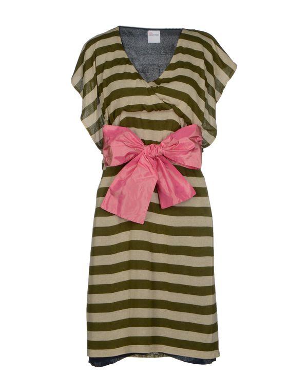 军绿色 REDVALENTINO 短款连衣裙