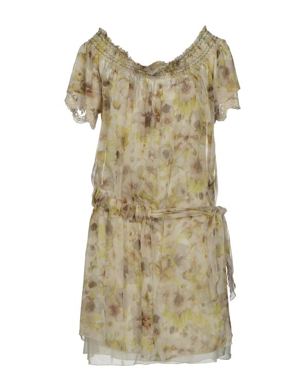 绿色 SCERVINO STREET 短款连衣裙