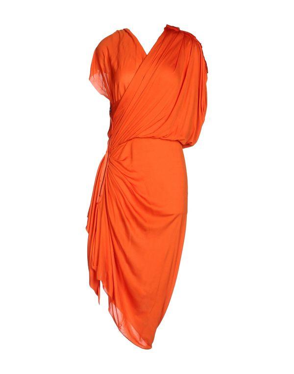 橙色 LANVIN 及膝连衣裙