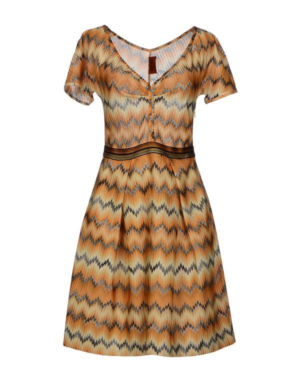 赭石色 MISSONI 短款连衣裙