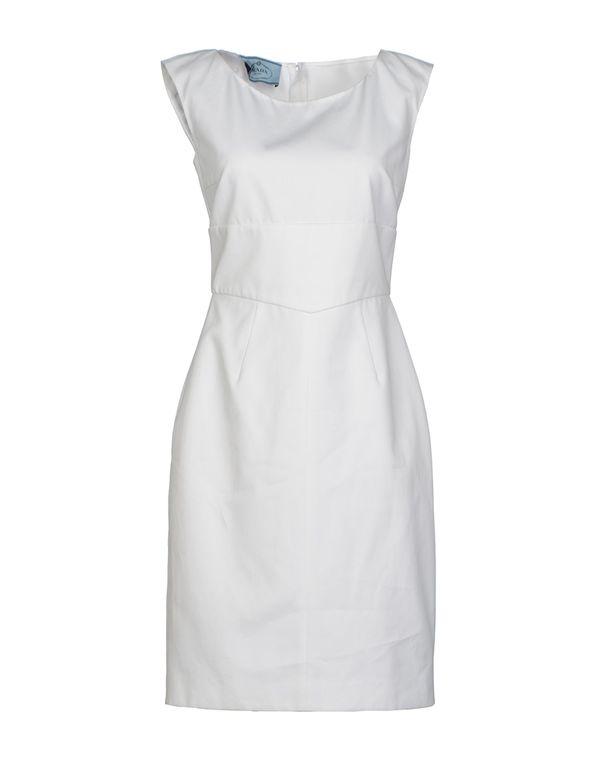 白色 PRADA 短款连衣裙