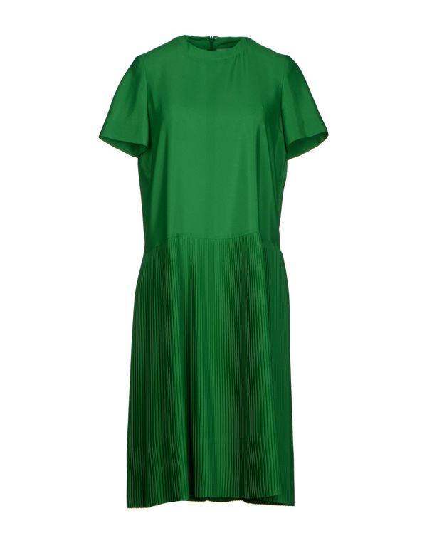 绿色 JIL SANDER 及膝连衣裙