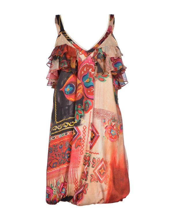 米色 GALLIANO 短款连衣裙