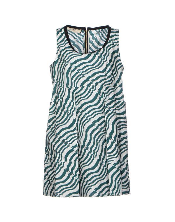 祖母绿 MARNI 短款连衣裙