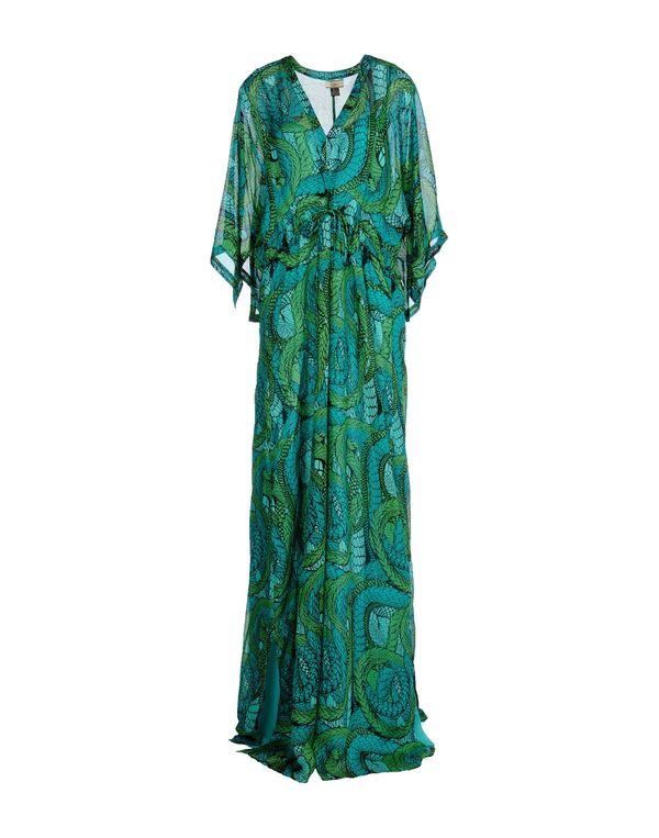 蓝绿色 ISSA 长款连衣裙