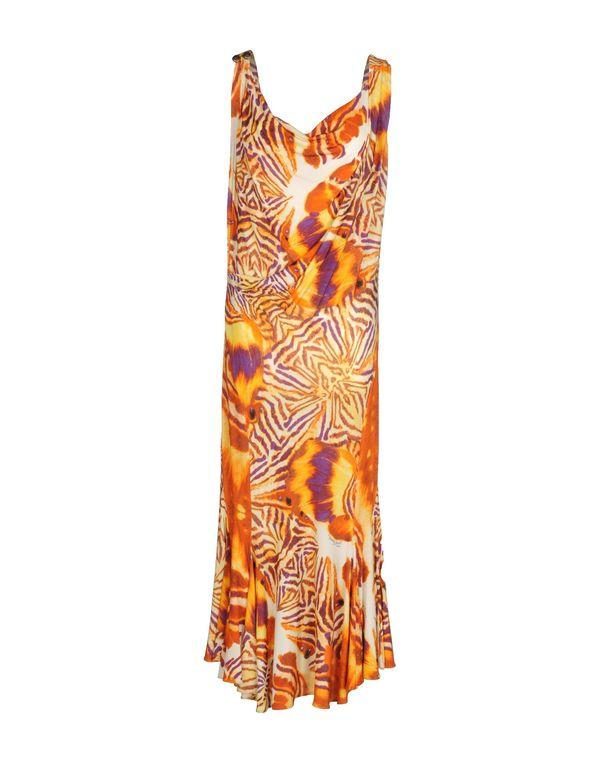 橙色 JUST CAVALLI 中长款连衣裙
