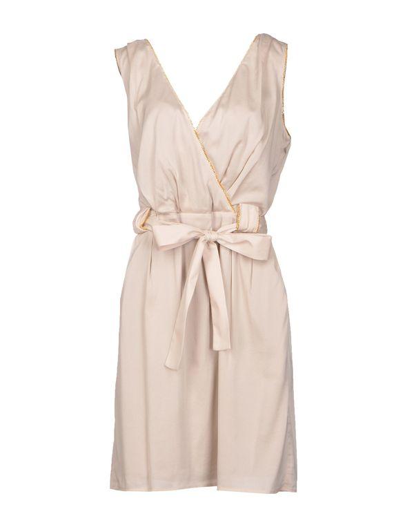 淡灰色 ANNA MOLINARI 短款连衣裙