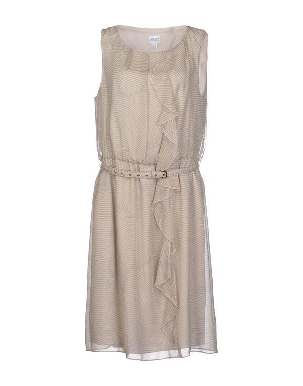 淡灰色 ARMANI COLLEZIONI 及膝连衣裙