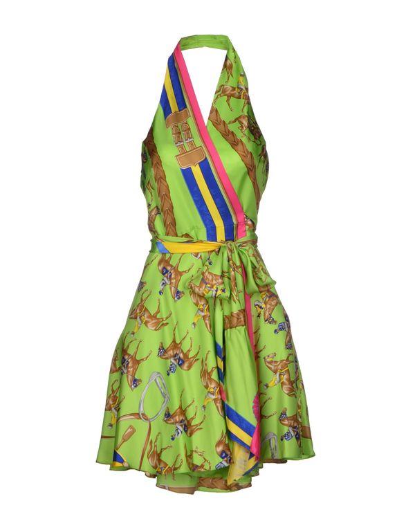荧光绿 RALPH LAUREN 短款连衣裙