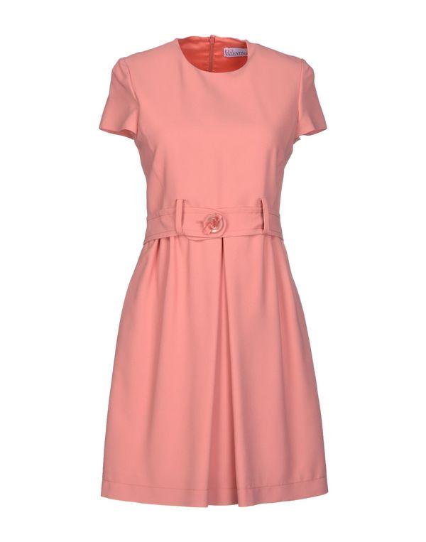 水粉红 REDVALENTINO 短款连衣裙