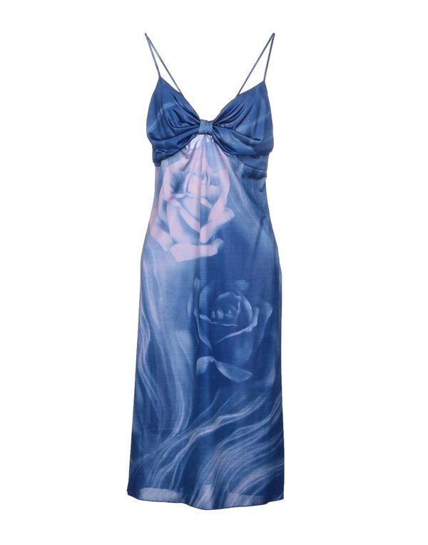 石青色 CLASS ROBERTO CAVALLI 及膝连衣裙