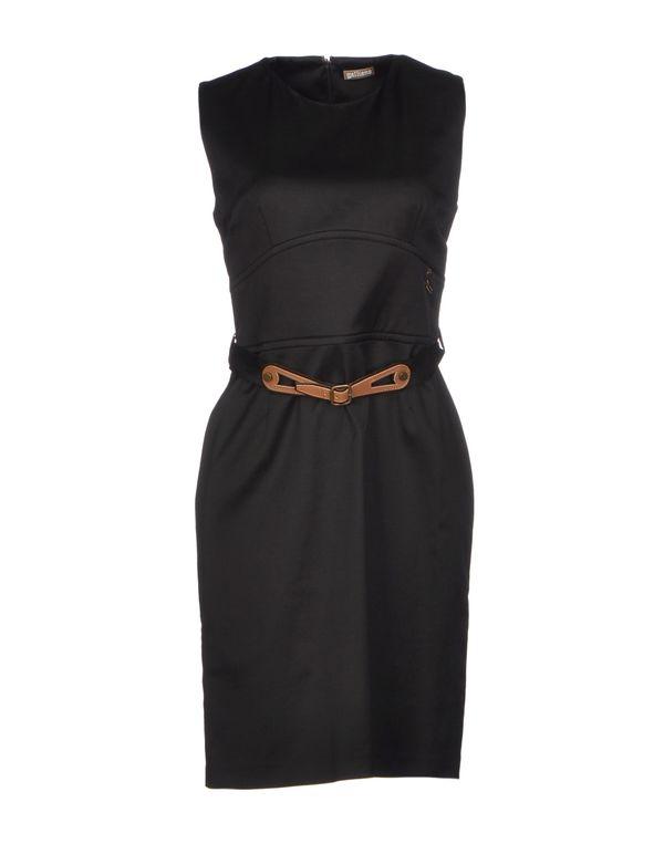 黑色 GALLIANO 短款连衣裙