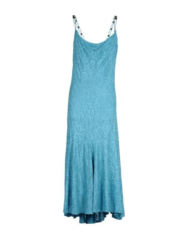 蓝绿色 CLASS ROBERTO CAVALLI 中长款连衣裙