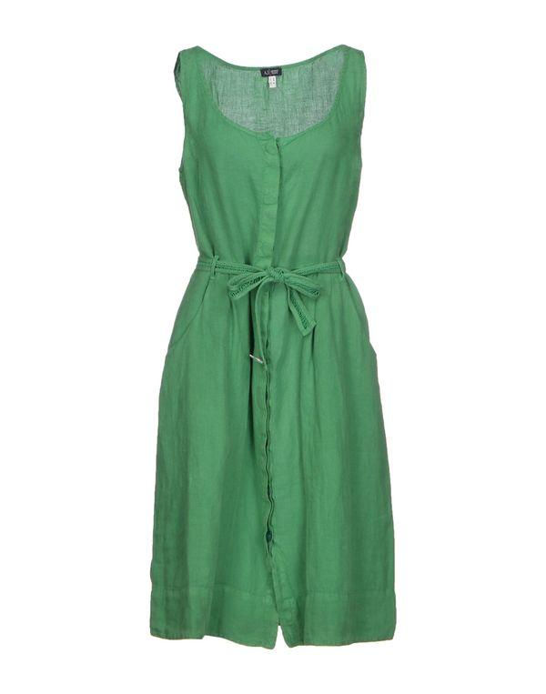 深绿色 DOLCE & GABBANA 及膝连衣裙