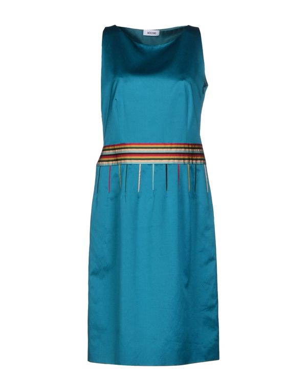 蓝绿色 MOSCHINO 及膝连衣裙