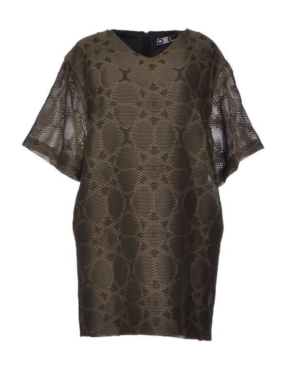 军绿色 MSGM 短款连衣裙