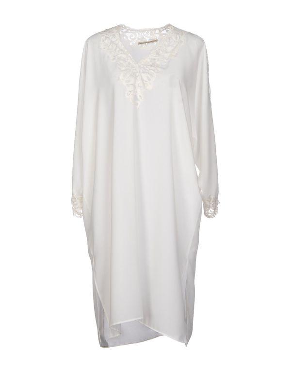 白色 ERMANNO SCERVINO 及膝连衣裙
