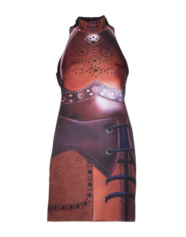 棕色 MARY KATRANTZOU 短款连衣裙
