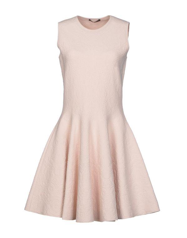 浅粉色 ALEXANDER MCQUEEN 短款连衣裙