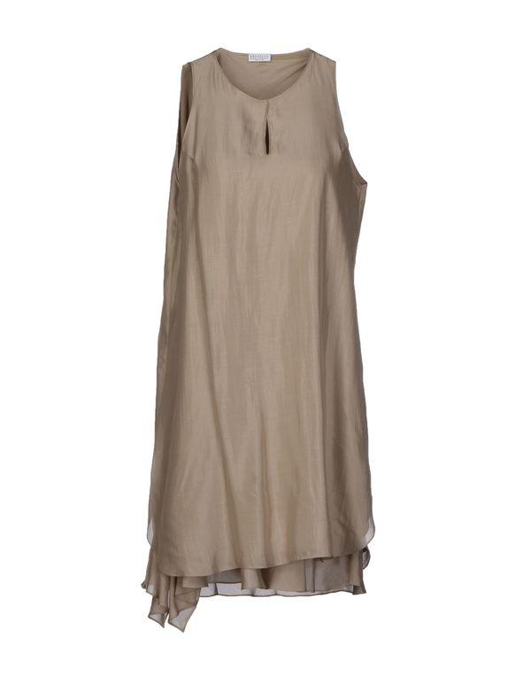 沙色 BRUNELLO CUCINELLI 短款连衣裙