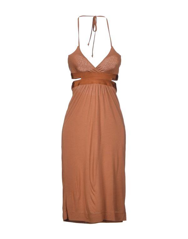 棕色 M MISSONI 及膝连衣裙