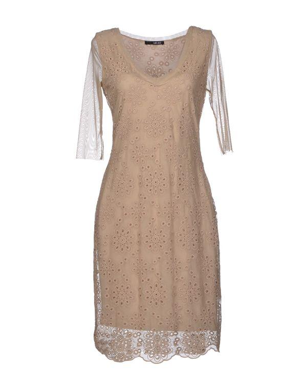沙色 LIU •JO 短款连衣裙