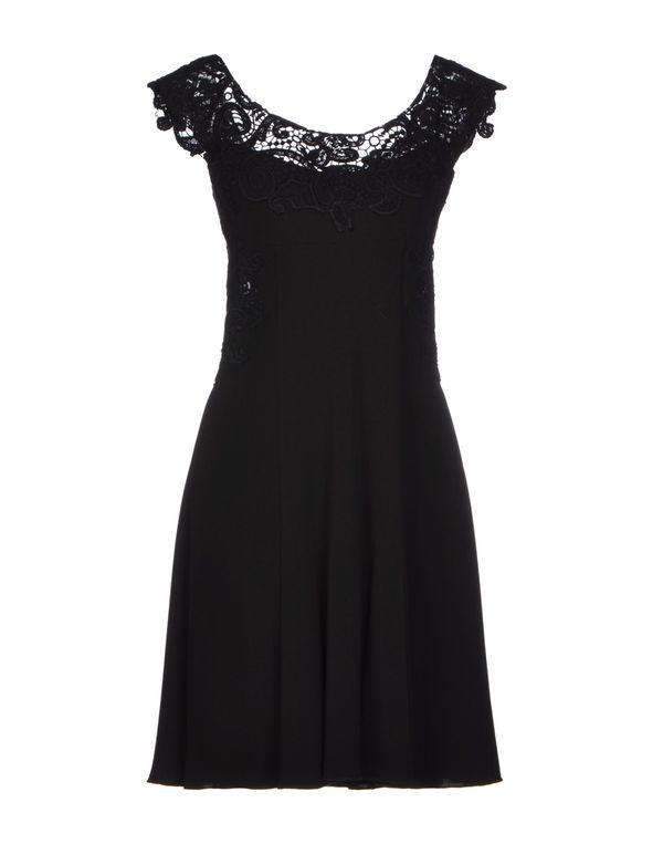 黑色 ERMANNO SCERVINO 短款连衣裙