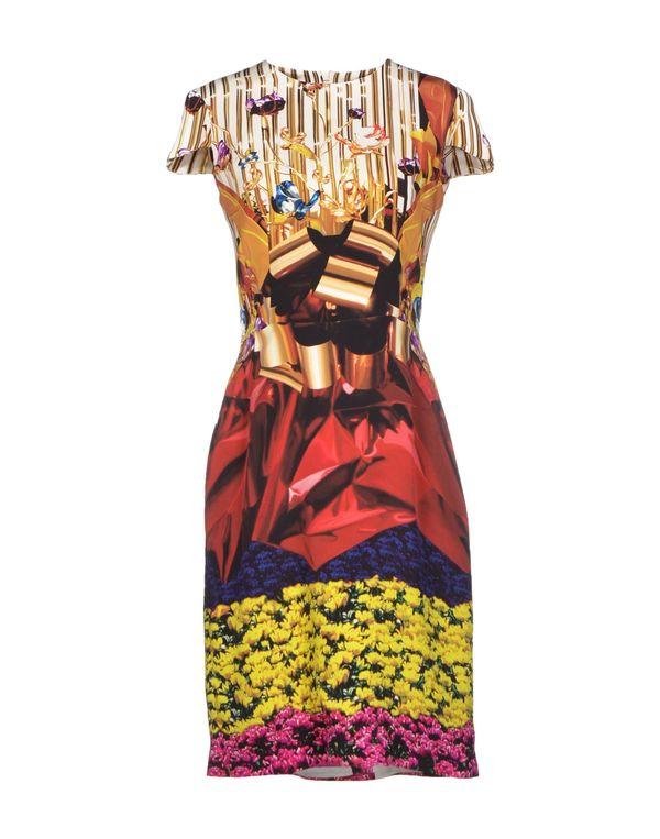 黄色 MARY KATRANTZOU 及膝连衣裙