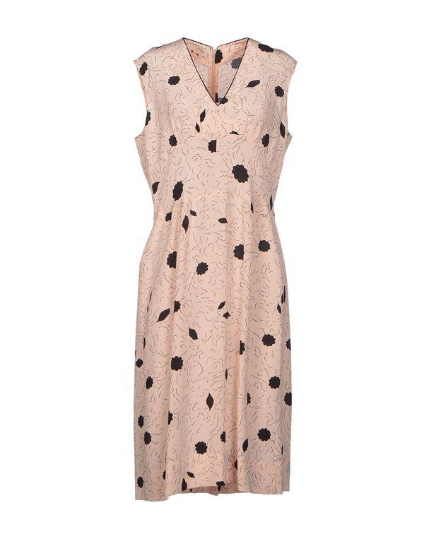 浅粉色 MARNI 及膝连衣裙