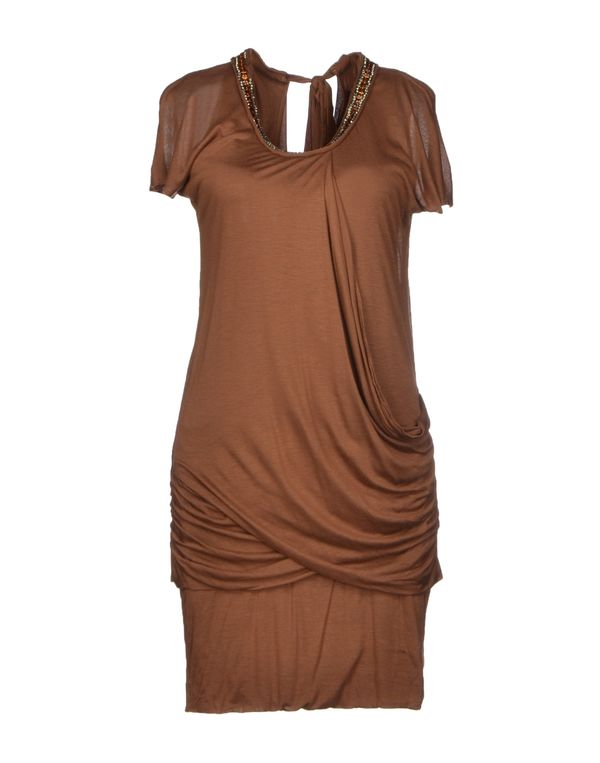 棕色 LE COEUR DE TWIN-SET SIMONA BARBIERI 短款连衣裙