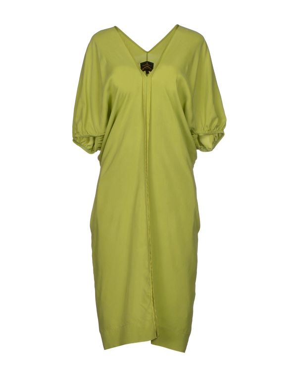 荧光绿 VIVIENNE WESTWOOD ANGLOMANIA 及膝连衣裙