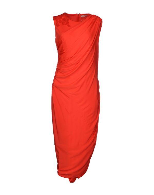 红色 SCERVINO STREET 中长款连衣裙