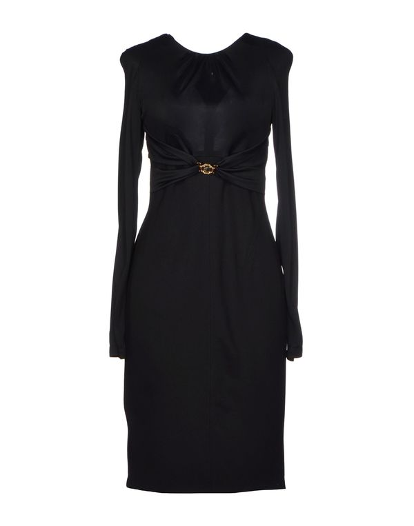 黑色 VERSACE COLLECTION 及膝连衣裙