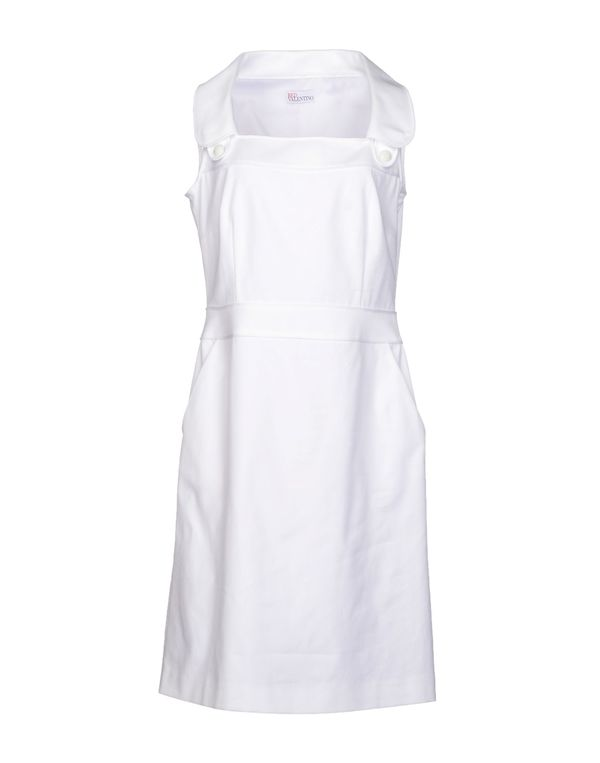 白色 REDVALENTINO 及膝连衣裙