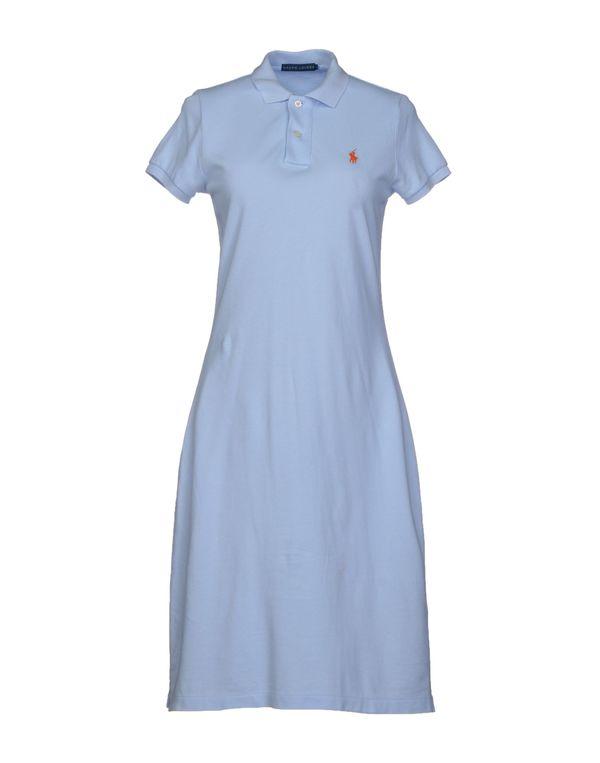 天蓝 RALPH LAUREN 短款连衣裙
