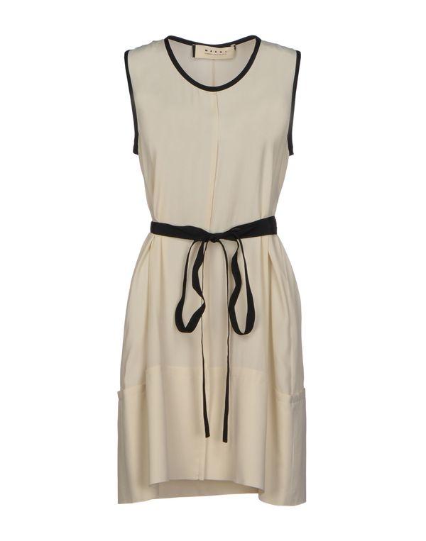 象牙白 MARNI 短款连衣裙
