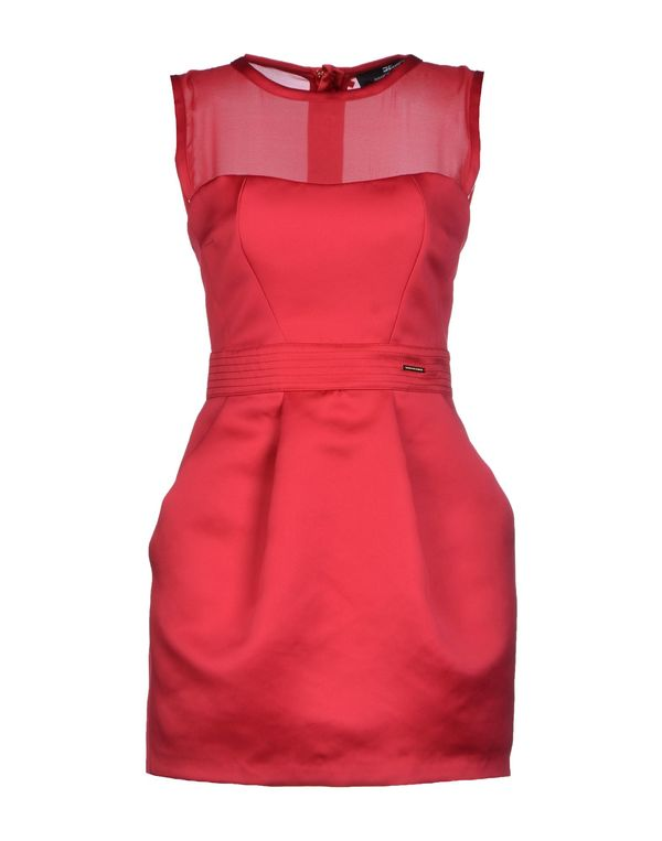玫红色 ELISABETTA FRANCHI 短款连衣裙