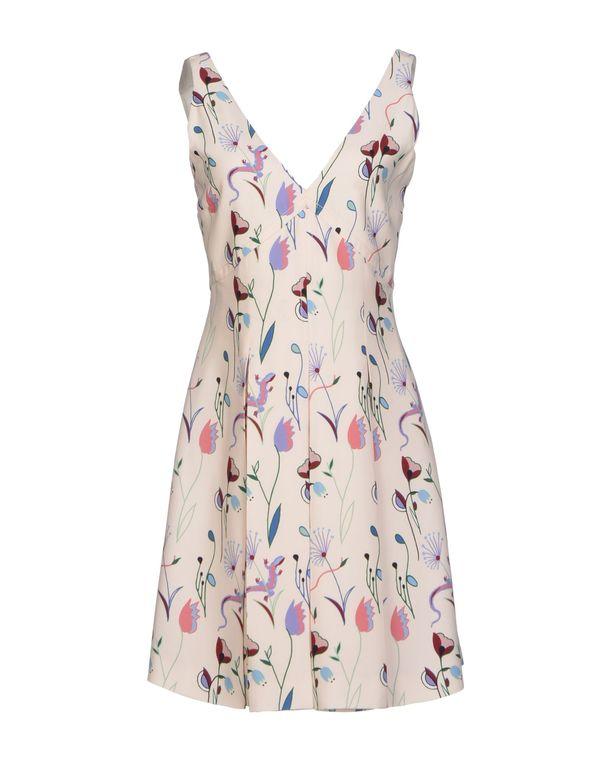 浅粉色 MIU MIU 短款连衣裙