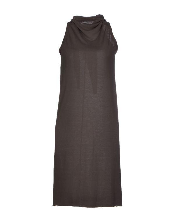 铅灰色 RICK OWENS 短款连衣裙