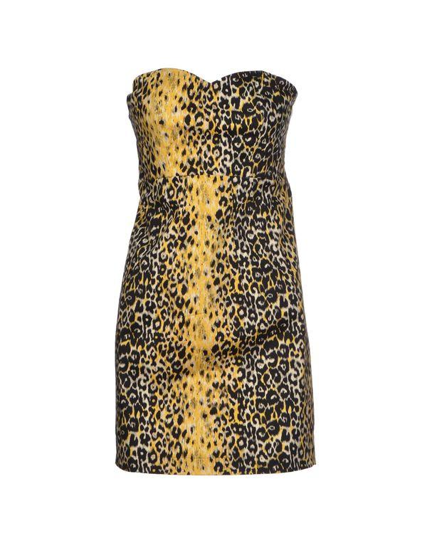 黄色 GUESS 短款连衣裙