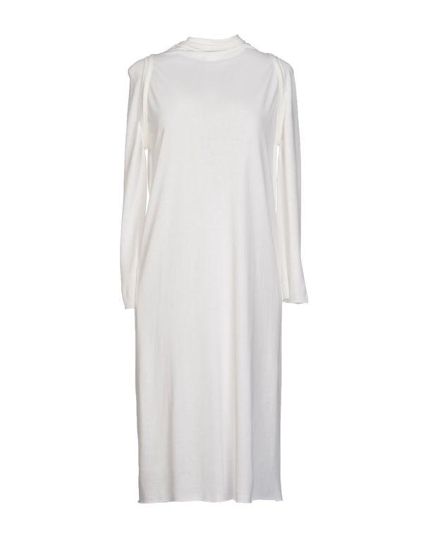 白色 RICK OWENS 及膝连衣裙