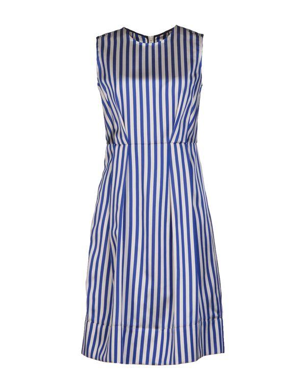 蓝色 MARNI 及膝连衣裙