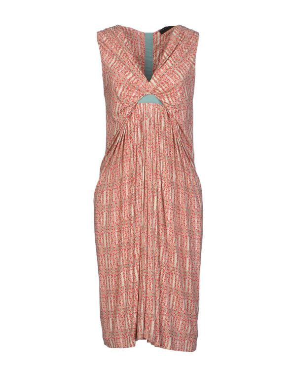 红色 TWIN-SET SIMONA BARBIERI 及膝连衣裙