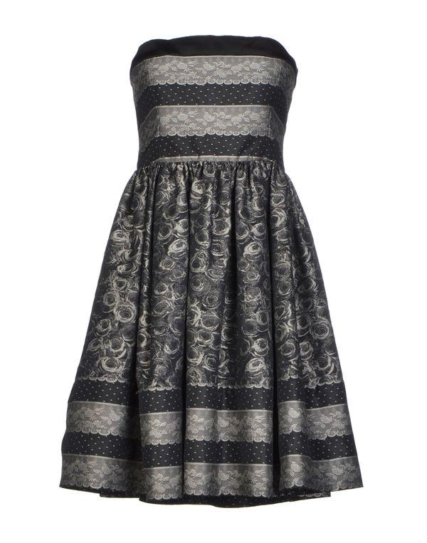 灰色 REDVALENTINO 短款连衣裙