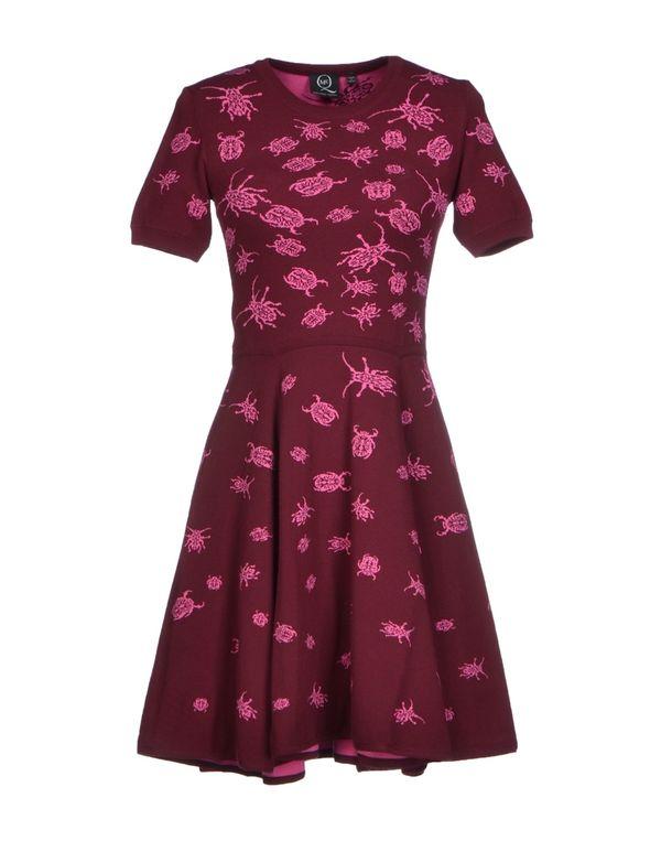 波尔多红 MCQ ALEXANDER MCQUEEN 短款连衣裙