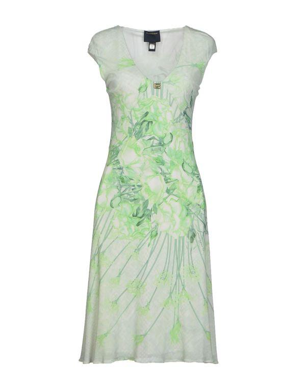 浅绿色 CLASS ROBERTO CAVALLI 长款连衣裙