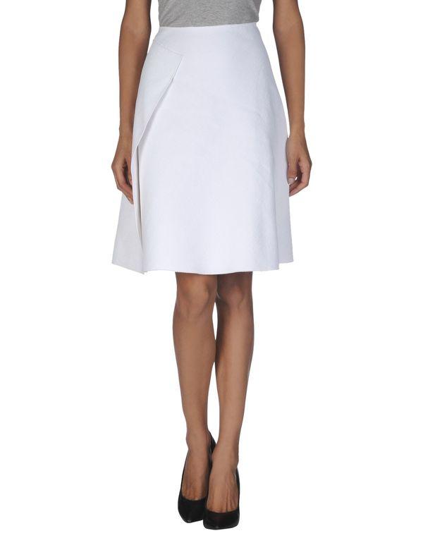 白色 JIL SANDER NAVY 及膝半裙