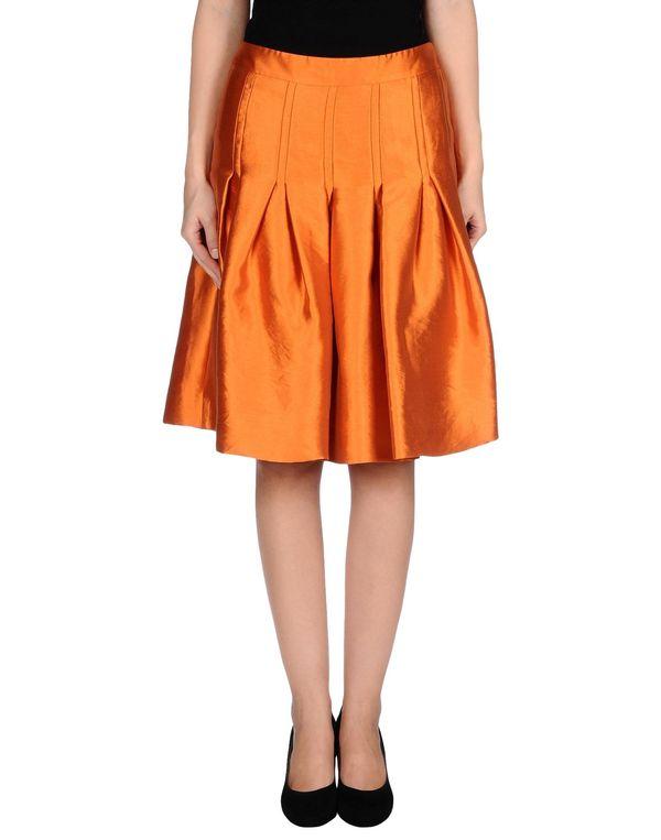 铁锈红 MOSCHINO 及膝半裙