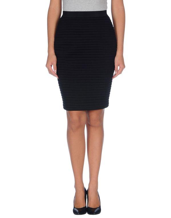 黑色 NEIL BARRETT 及膝半裙