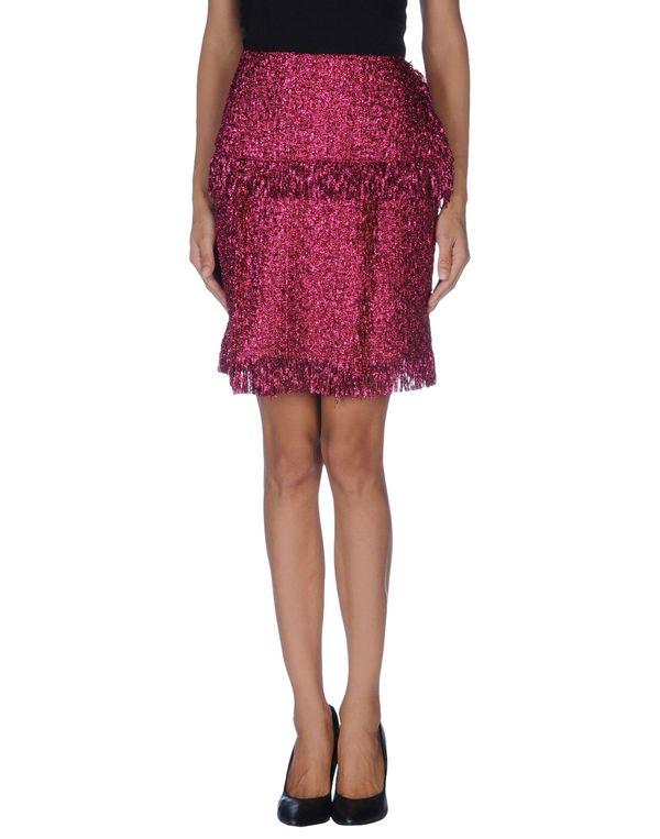 玫红色 LANVIN 及膝半裙
